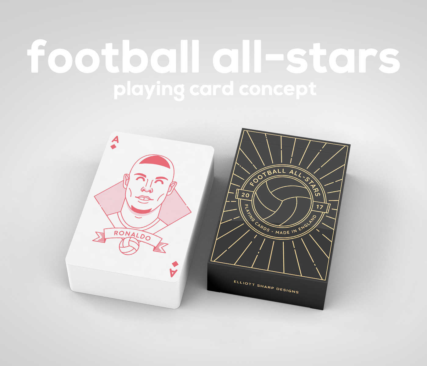 Elliot Sharp's crazy Football playing cards concept